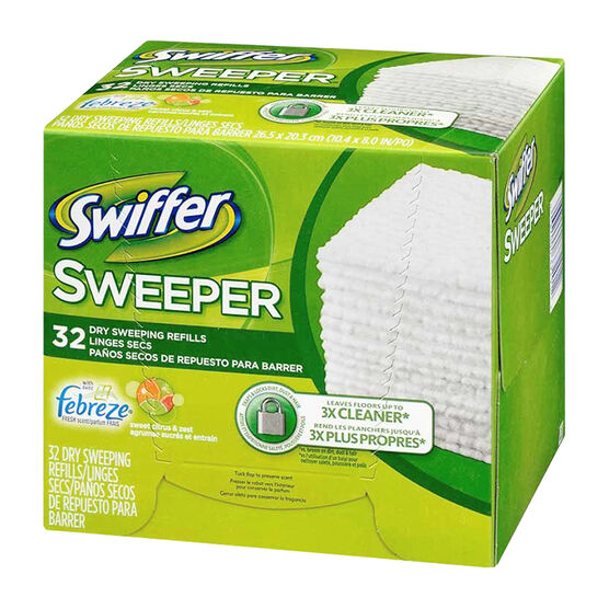 Swiffer Disposable Cloths - Lemon Scented - 32 sheets