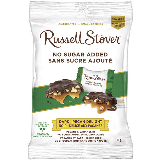Russell Stover No Sugar Added Dark Chocolate Pecan Delight - 85g