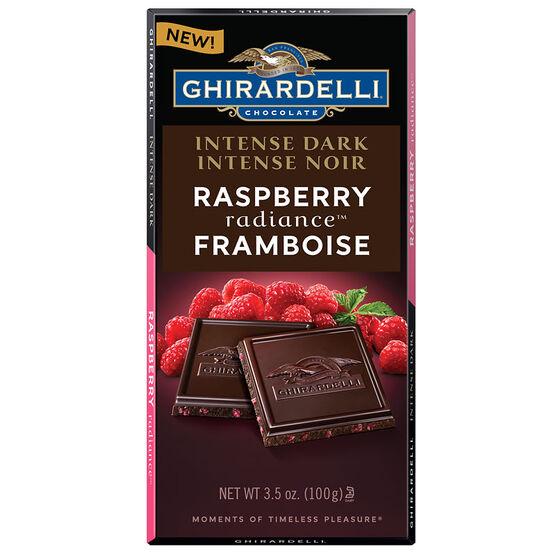 Ghirardelli Intense Dark Chocolate Bar - Raspberry - 100g
