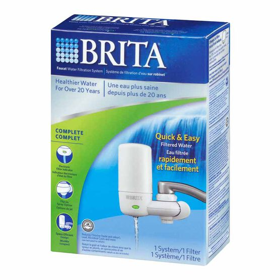 Brita On Tap Water Filtration System - White - 642201PAKC