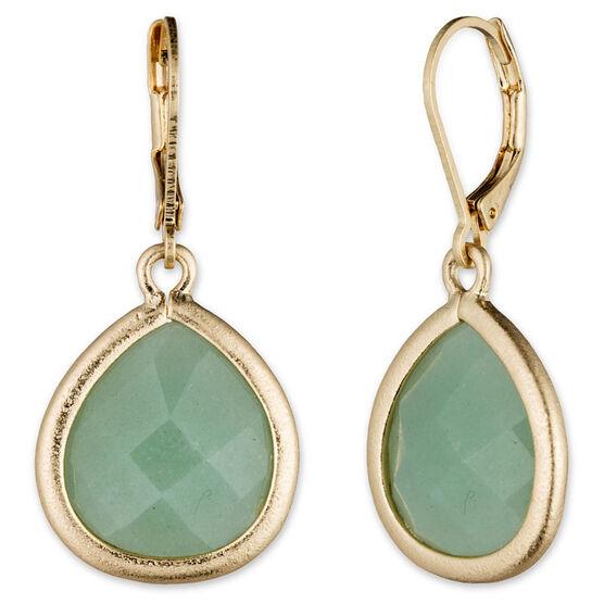 Lonna Lilly Pendant Teardrop Earrings - Green