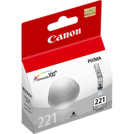 Canon CLI-221GY Ink Cartridge - Grey