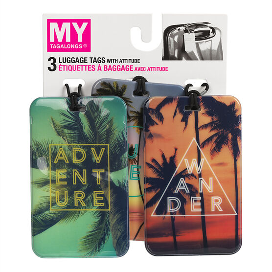 My Tagalongs Endless Summer Luggage Tags - Assorted - 50376 - 3's