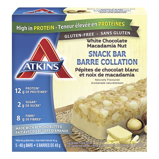 Atkins Snack Bar - White Chocolate Macadamia Nut - 5 x 40g