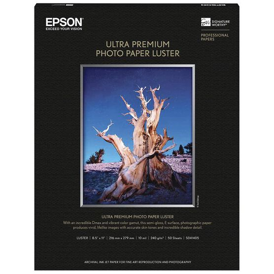 Epson Ultra-Premium Photo Paper Luster - 8.5 x 11 - 50 sheets - S041405