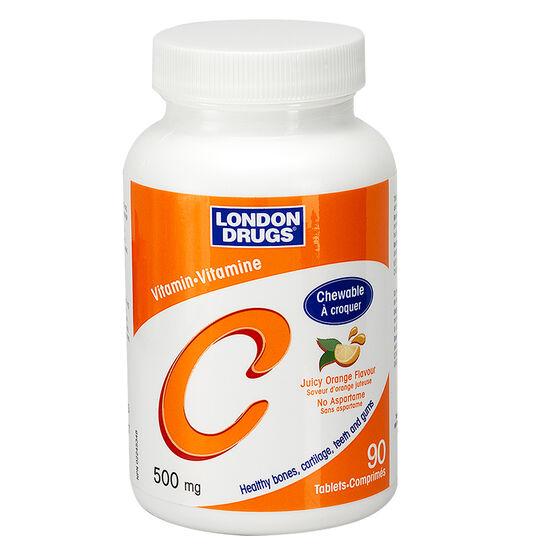 London Drugs Vitamin C Chewable Juicy Orange - 500mg - 90's