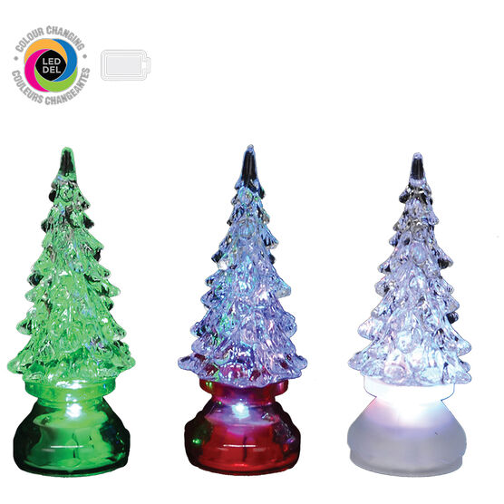 Danson LED Acrylic Tree - Assorted - 4.25in