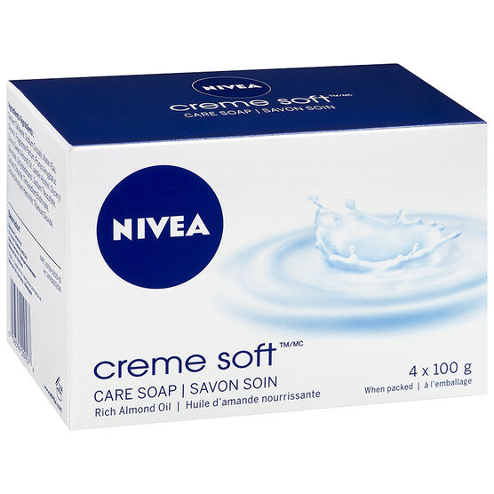 Nivea Creme Soft Care Soap - 4 x 100g