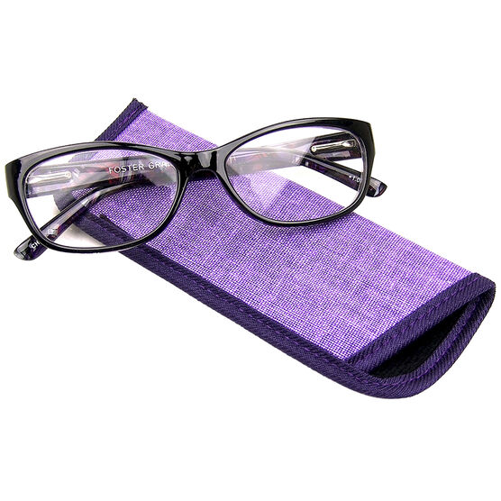 Foster Grant Jo Watercolor Reading Glasses with Case - 2.00