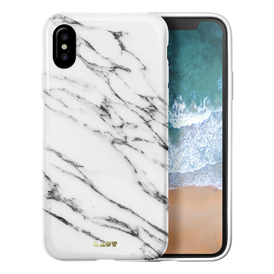 LAUT HUEX Elements Case for iPhone X - Marble White - LAUTIP8HXEMW