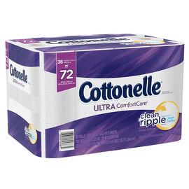 Cottonelle Ultra ComfortCare Bathroom Tissue - Clean Ripple - 36's