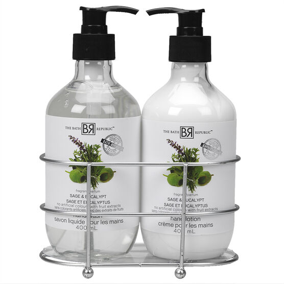 The Bath Republic Caddy Gift Set - Sage Eucalypt - 2 piece