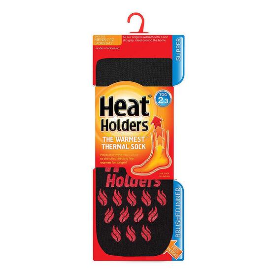 Heat Holders Men's Crew Slipper Socks - Black