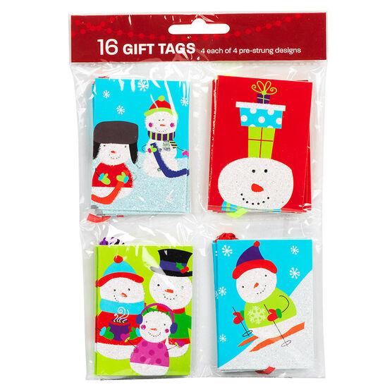 Christmas Holiday Quartets Tags - 16's - Assorted