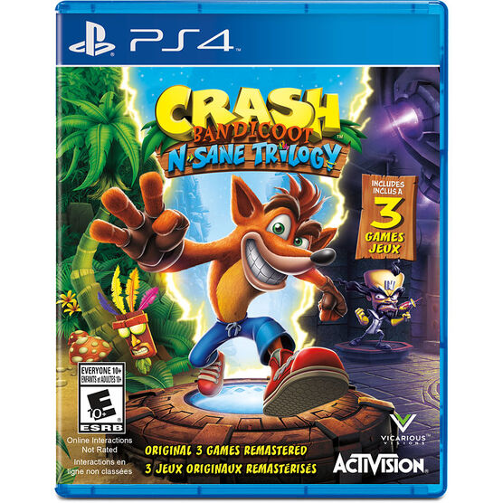 PS4 Crash Bandicoot N. Sane Trilogy