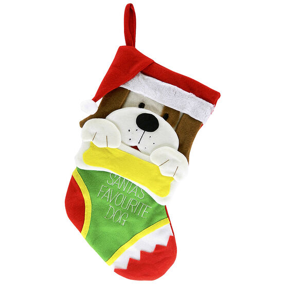 Christmas Forever Pet Stocking - Dog - 19in