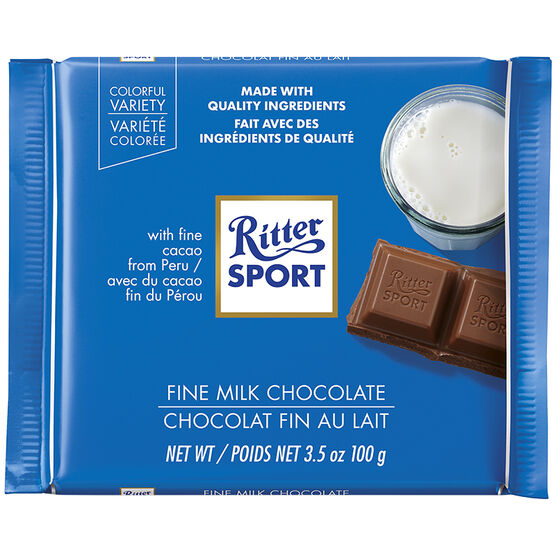 Ritter Sport Fine Milk Chocolate - 100g