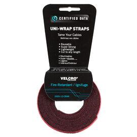 Certified Data 1/2-inch Uni-Wrap Straps - 12 feet - Cranberry