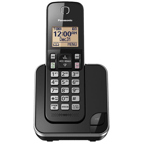 Panasonic 1 Handset Cordless Phone - Black - KXTGC380B