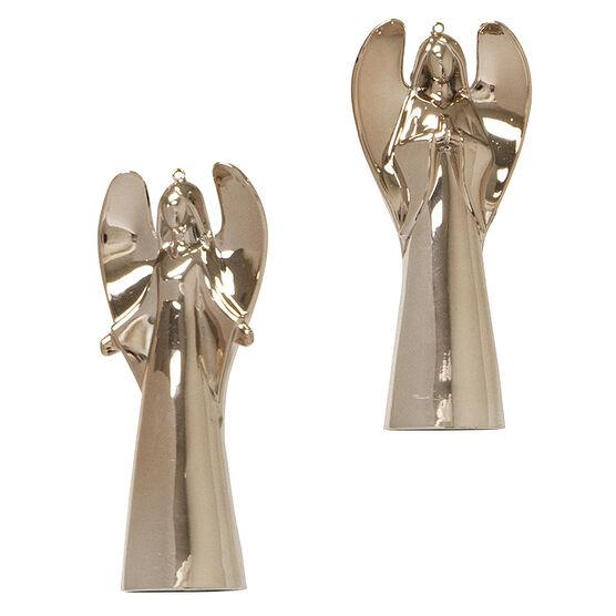 Modern Twist Angel Ornament - Rose Gold - 4.2 x 1.7in