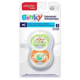 Playtex Ortho Binky - 0-6 months - 2 pack - Girls - Assorted