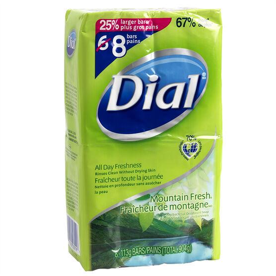 Dial Bar Soap - Mountain Fresh - 8 x 113g