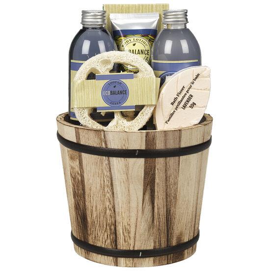 ECOBALANCE Basket Bath Gift Set Lavender - 6 piece