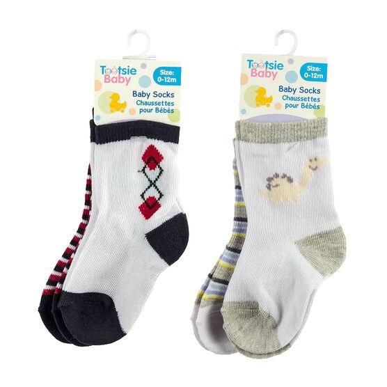 Tootsie Baby Printed Socks - 2 pack - Blue - Assorted