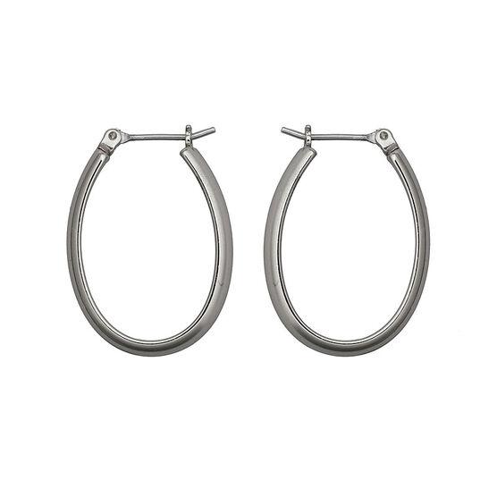 Nine West Medium Oval Hoop Earrings