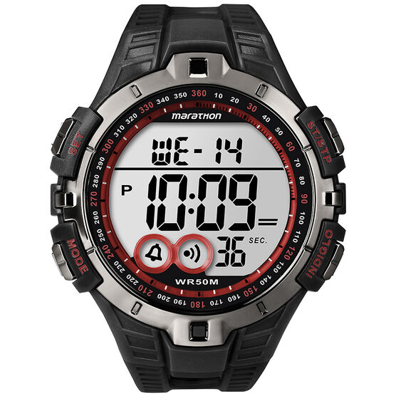 Timex Marathon Fullsize - Black/Red - T5K423C2