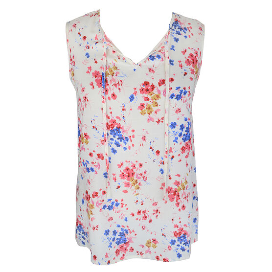 Lava Sleeveless Printed Blouse - Coral/Floral