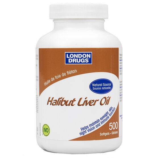 London Drugs Halibut Liver Oil Softgels- 500's