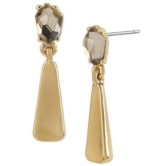 Robert Lee Morris Faux Topaz Drop Earrings - Bronze