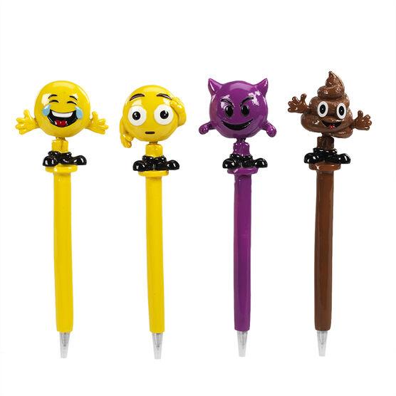 Hand Painted Bobblehead Emoji Pen 2 - Assorted