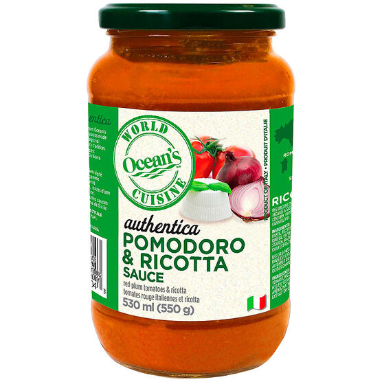 Ocean's World Cuisine Sauce - Pomodoro & Ricotta - 530ml