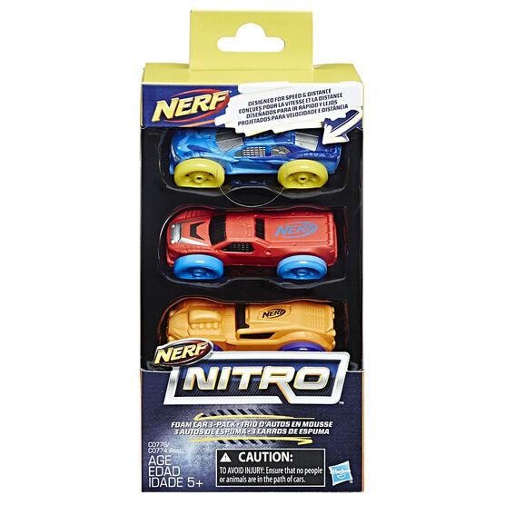 Nerf Nitro Foam Car - 3 pack - Assorted