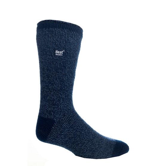 Heat Holders Men's Twist Crew Socks - Navy/Denim