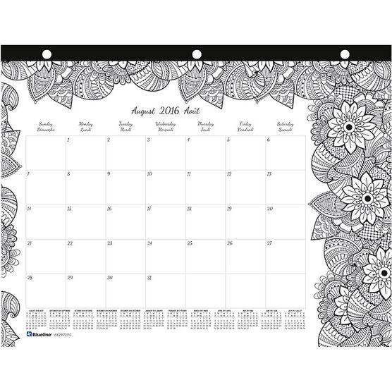 Blueline Monthly Desk Pad - Medium