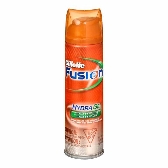 Gillette Fusion Hydra Gel Shave Gel  - Sensitive - 198g