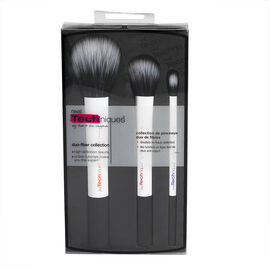 Real Techniques Duo Fiber Collection Brush Set - 3's