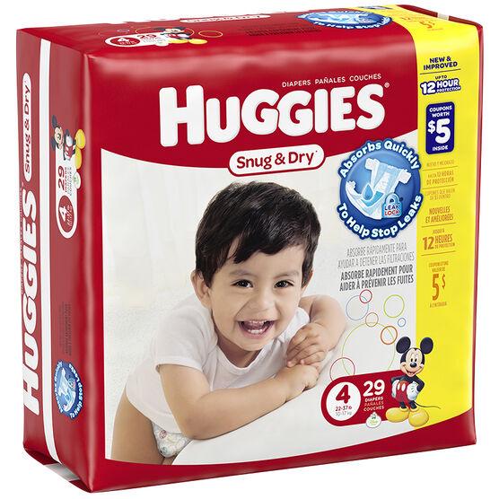 Huggies Snug & Dry Diapers - Size 4 - 29's