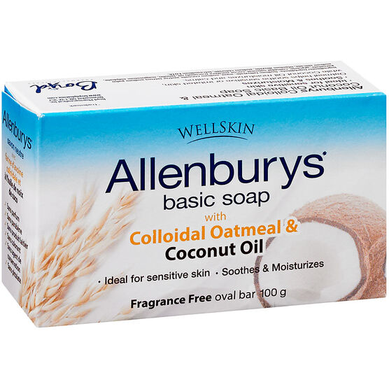 Allenburys Basic Soap - Colloidal Oatmeal & Coconut Oil - 100g