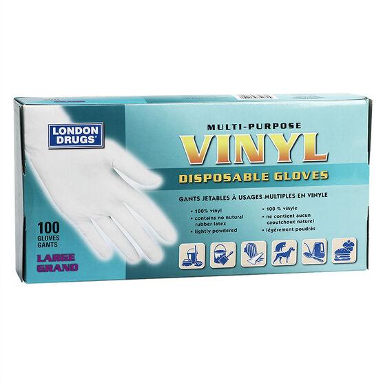 London Drugs Disposable Vinyl Gloves - Large - 100's