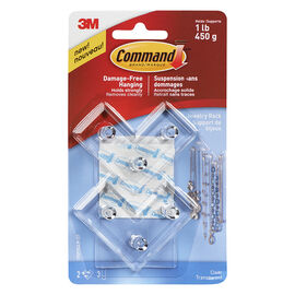 Command™ Jewelry Rack - Clear - 2's