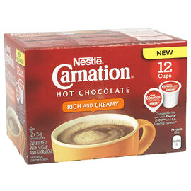 Nestle Carnation Hot Chocolate - Rich & Creamy - 12 pack