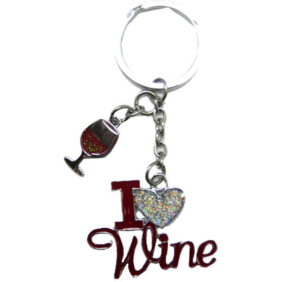 Valentine's I Love Wine Key Tag