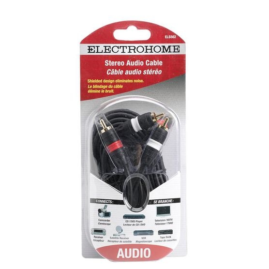 Electrohome 12-ft Stereo RCA to RCA Cable - ELS562