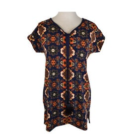 Lava Short Sleeve Printed Tunic Top