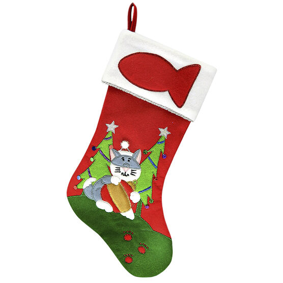 Christmas Forever Stocking - Fish - 18.5in