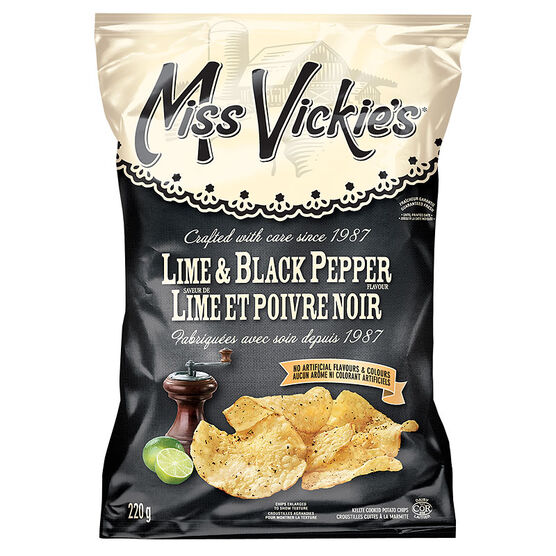 Miss Vickies Potato Chips - Lime & Black Pepper - 220g